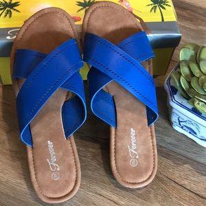 "FOREVER LINK ""Pasta"" Criss Cross Sandals Brand New"